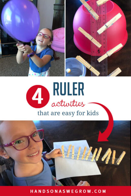 We've put together 4 super simple no-prep activities for kids using a ruler!