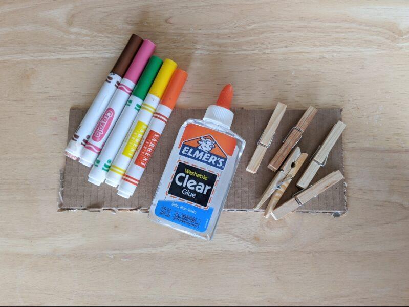 Nature Color Clip Scavenger Hunt Supplies
