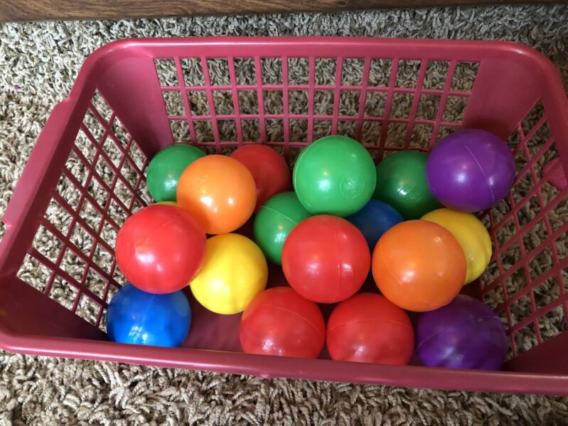 4 super fun and simple games and activities for kids of any age you can DIY at home using ball pit balls and other supplies you already have!