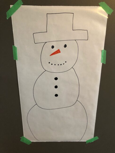 Work on fine and gross motor skills as well as creativity with a simple cotton ball snowman activity perfect for toddlers and preschoolers.