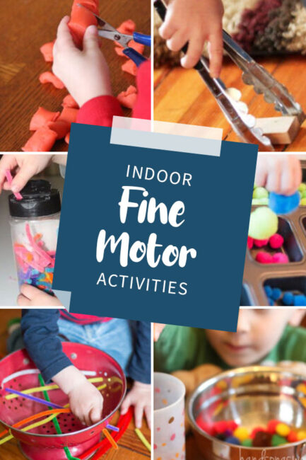 Looking for fine motor activities to do on a rainy day indoors with your toddler or preschooler? We have a whole list!