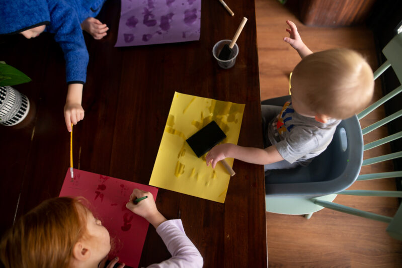 Kids of any age can enjoy making this easy construction paper art project since you are only painting with water! Get creative and have fun.