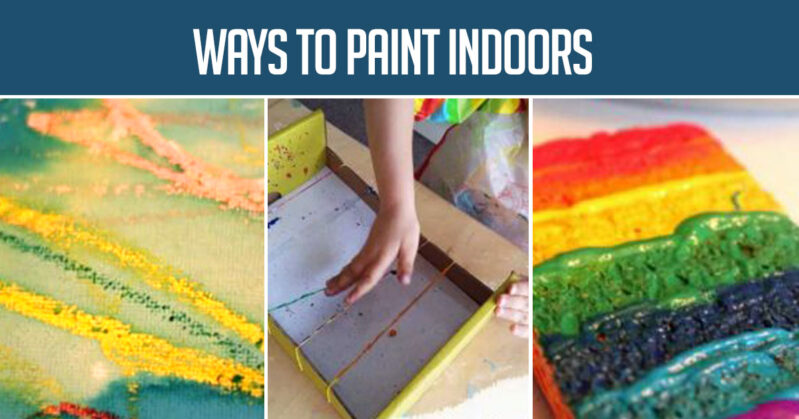 A big list of arts and craft projects to do with your toddler or preschooler on a cold or rainy day.