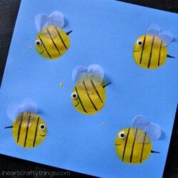 Balloon Print Bee Craft - I Heart Crafty Things