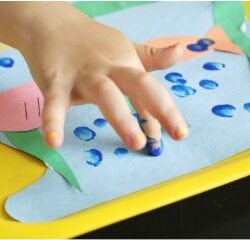 Counting Finger Print Fish Bubbles - School Time Snippets
