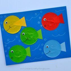 Cupcake Liner Fish Craft - I Heart Crafty Things