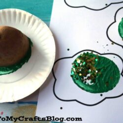 Potato Stamped Green Eggs - Glued to my Crafts