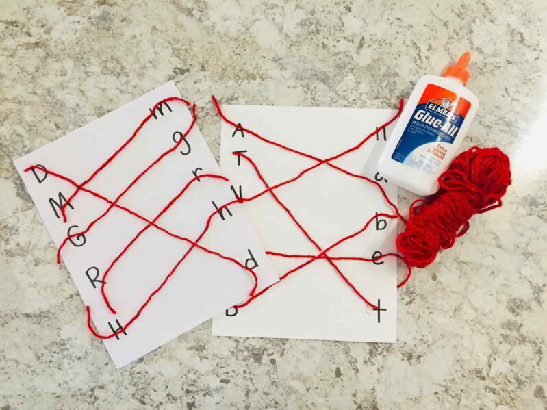 This letter match activity is a perfect tactile way to work on upper and lowercase letters! Match uppercase and lowercase letters with string!