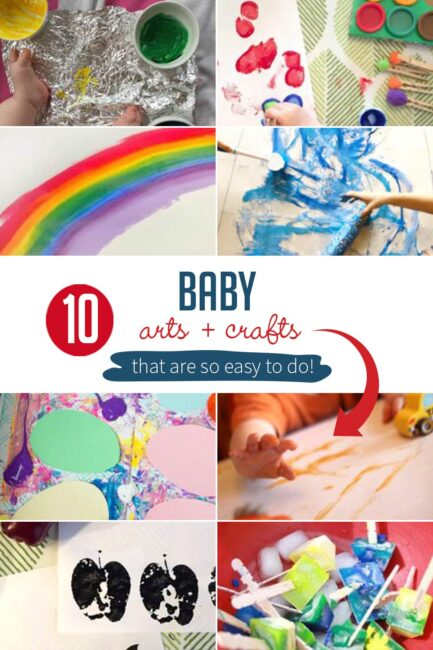 Try these simple baby arts and crafts ideas with your little one! Let's get a little messy and make memories.