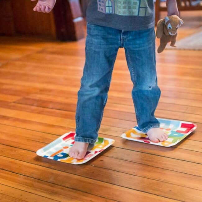 Paper Plate Indoor Skating