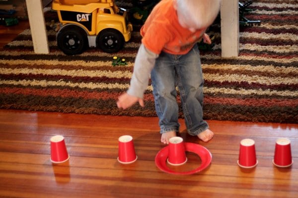 Paper Plate Ring Toss Learning Game