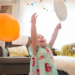 Paper Plate Balloon Badminton Game