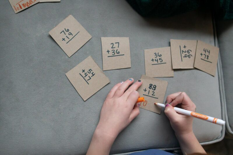 Turn a cereal box into a scavenger hunt and math activity with this super simple DIY puzzle activity with a twist.