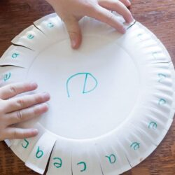 Letter Learning with Paper Plate Fun