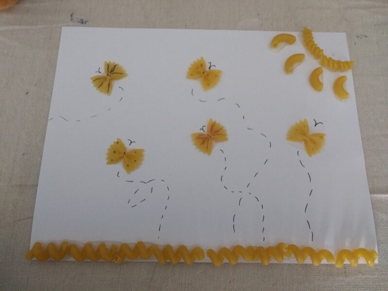 Butterfly Pasta Artwork