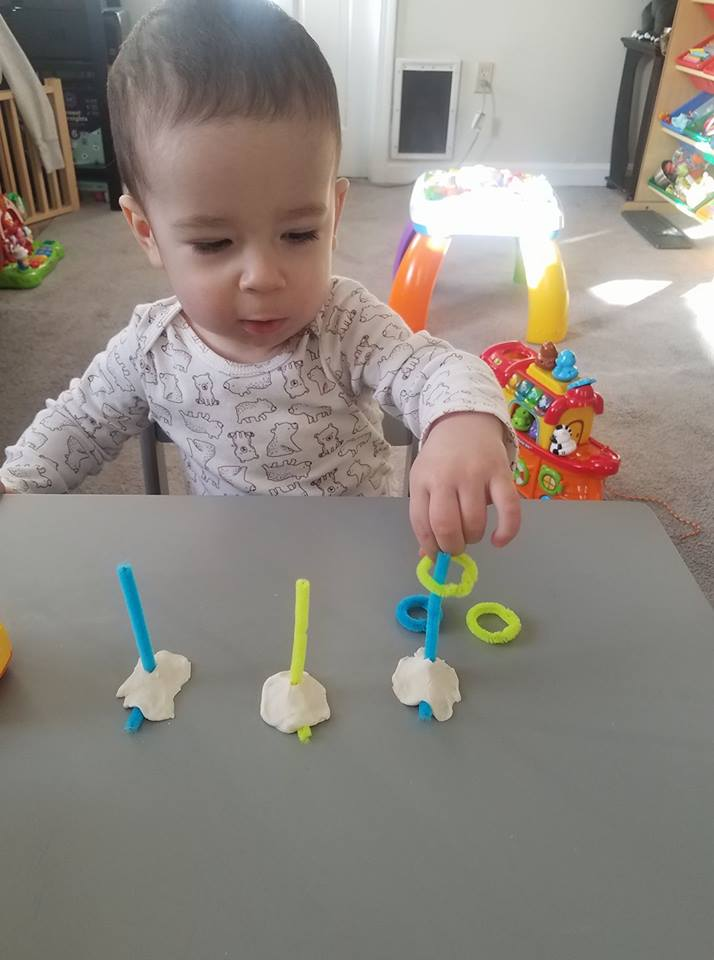 Pipe Cleaner Ring Stacking Fine Motor Activity