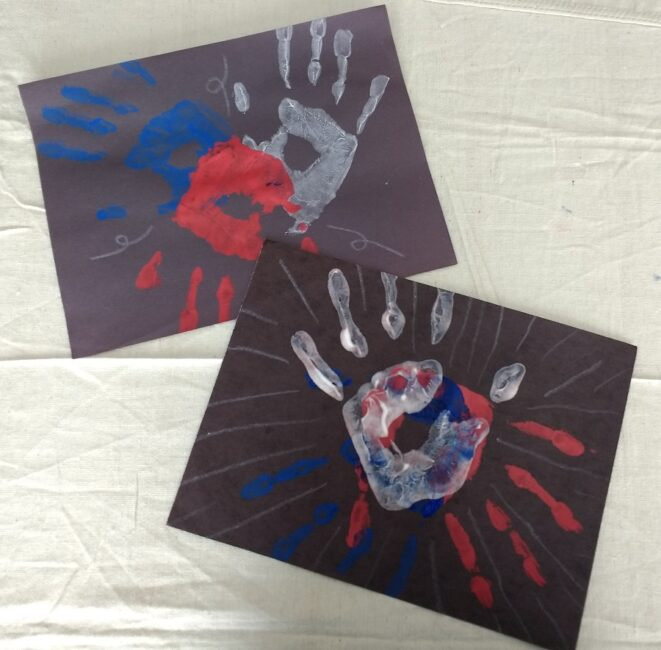 Celebrate your 4th of July with a simple and fun handprint firework craft perfect for kids from preschool to toddlers! Make a family collage.