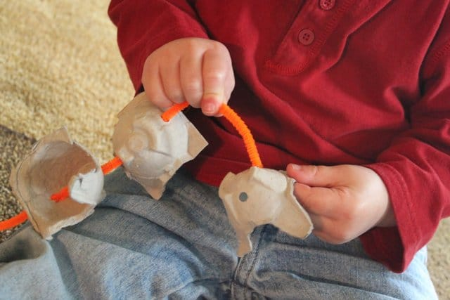 Pipe Cleaner Train for Fine Motor Practice