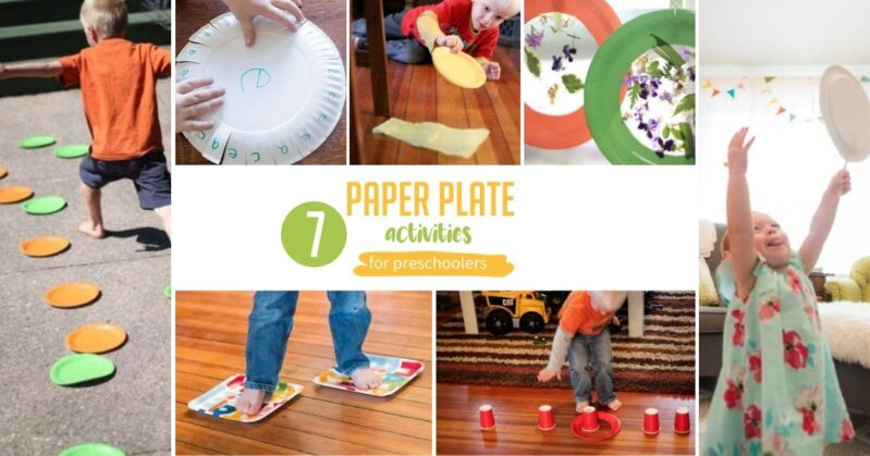 7 simple and fun paper plate activities that will bring out the giggles and get rid of the wiggles in your toddlers and preschoolers indoors!