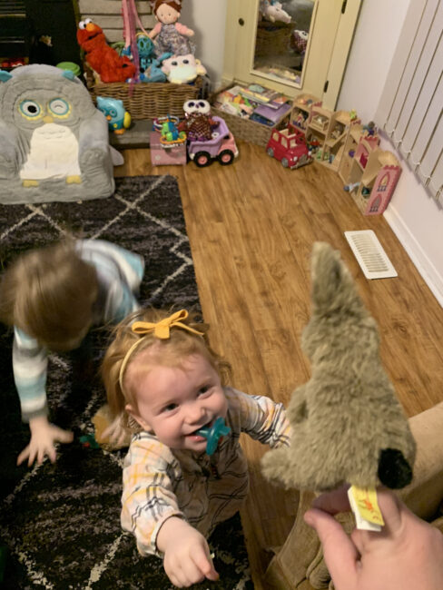 Super simple and silly game for helping kids practice where animals live that's perfect for toddlers and preschoolers to get moving inside.