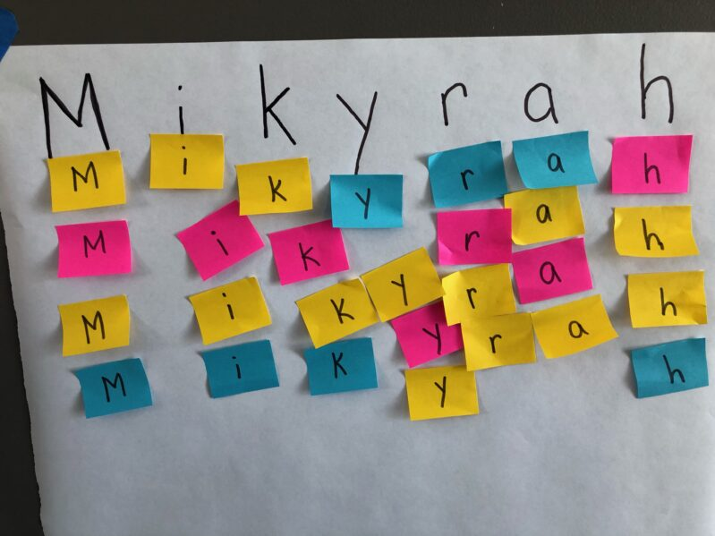 Get kids dancing with a fun musical game to learn to spell your name for preschoolers that's easy to prep and uses household supplies.