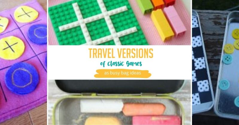 Travel versions of classic games you can DIY for toddlers to stay busy in the car.