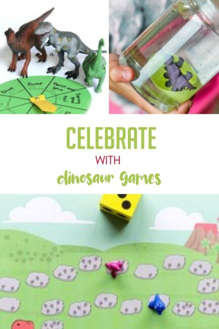 Fun dinosaur themed games perfect for dinosaur day with your family!