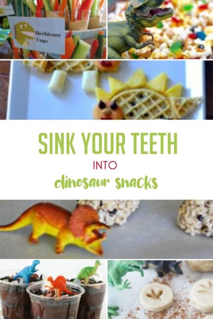 Add some fun dino snacks to your dinosaur activities and crafts to stay energized!
