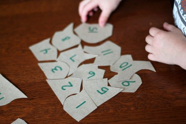 Learning to Count Cereal Box Puzzle Game for Kids