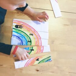 Learning Name Rainbow Puzzle