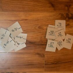 Math Equations Cereal Box Puzzle