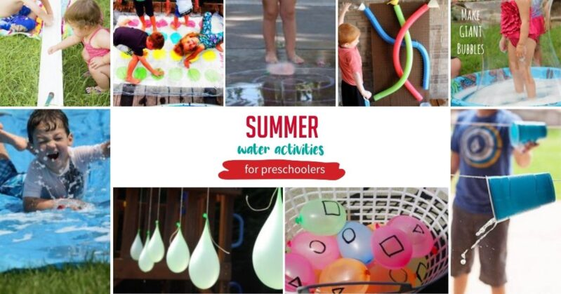 Water activities, outdoor kids games, and crafty summer adventures for preschoolers to do at home.