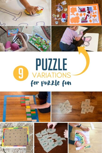 If your kids love puzzles then they will love these 9 puzzle games and learning activities that are simple to prep and fun to play at home.