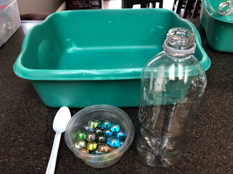 Supplies needed for this quick, no prep Sensory and fine motor activity for kids.