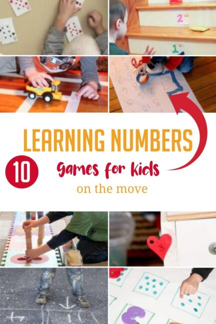 Take all that energy your kids have and turn it into some fun learning numbers games. Combine number recognition with gross motor skills!