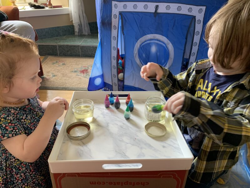 Science experiment that is easy enough for toddlers and preschoolers to do from start to finish.