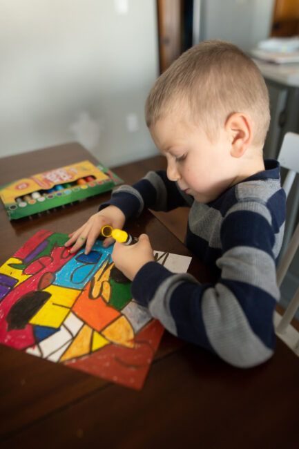 colorful ABC art project for kids
