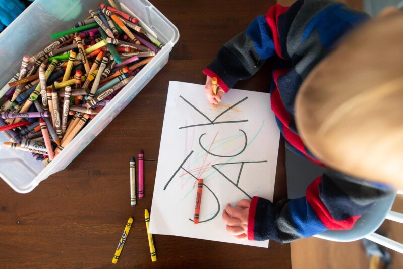 name scribble art for toddlers