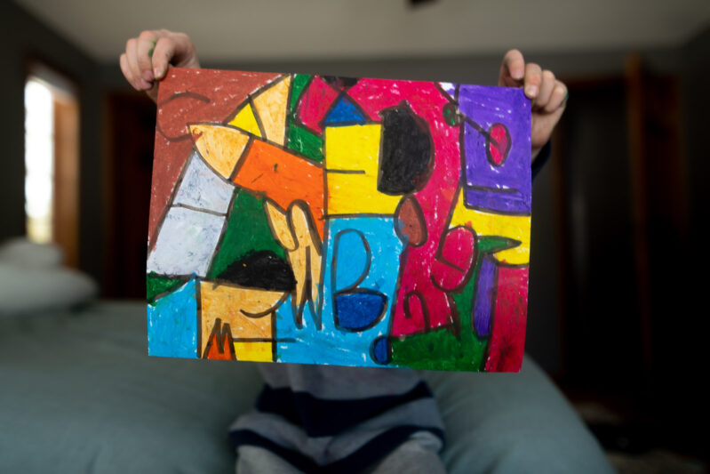 fun and colorful alphabet art project for kids