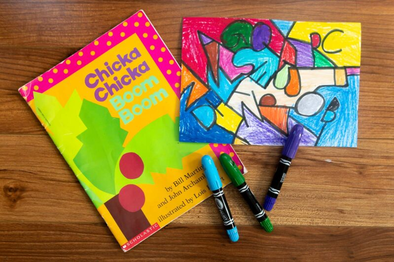 chicka chicka boom boom ABC art for kids