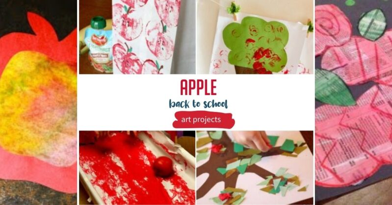 Apple Art Projects for Back to School Season activities for kids to make at home or in the classroom this fall.