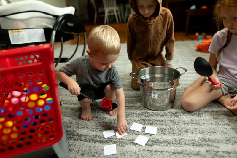 teach colors to toddlers using blocks and making block soup