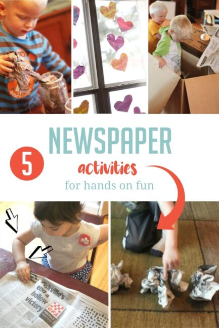 Grab all that newspaper from the recycling bin and try these 7 fun and simple activities perfect to help kids skills develop at home.