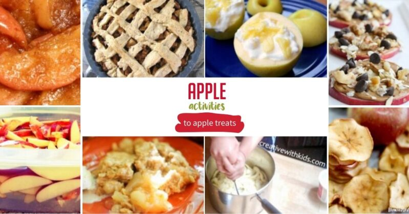 Here is a fantastic list of simple and fun apple snacks and treats to make with the kids this fall.