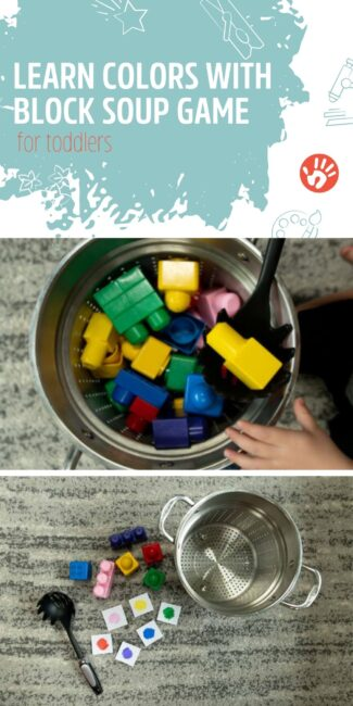 Can you find all the colored block ingredients to make this Block Soup recipe? A fun tasty learning colors game for toddlers to learn to recognize their colors.