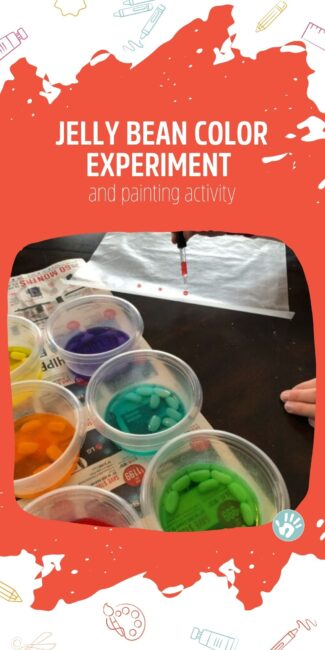 Check out this cool colored jelly bean experiment that turns into a bonus eye dropper painting activity! Lots of learning with jelly beans!