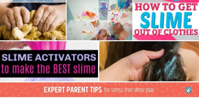 Here are some amazing parent tips for a successful slime time with your kids at home!